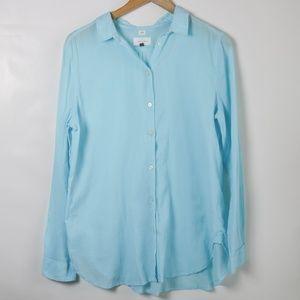 LOFT The Softened Shirt Light Blue